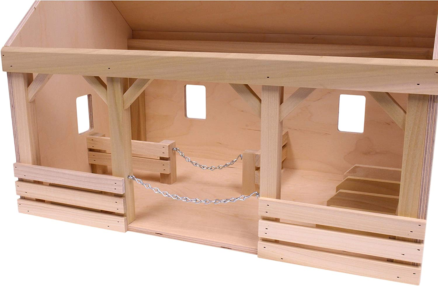 Amish Made Wooden Toy Mini Hip-Roof Barn
