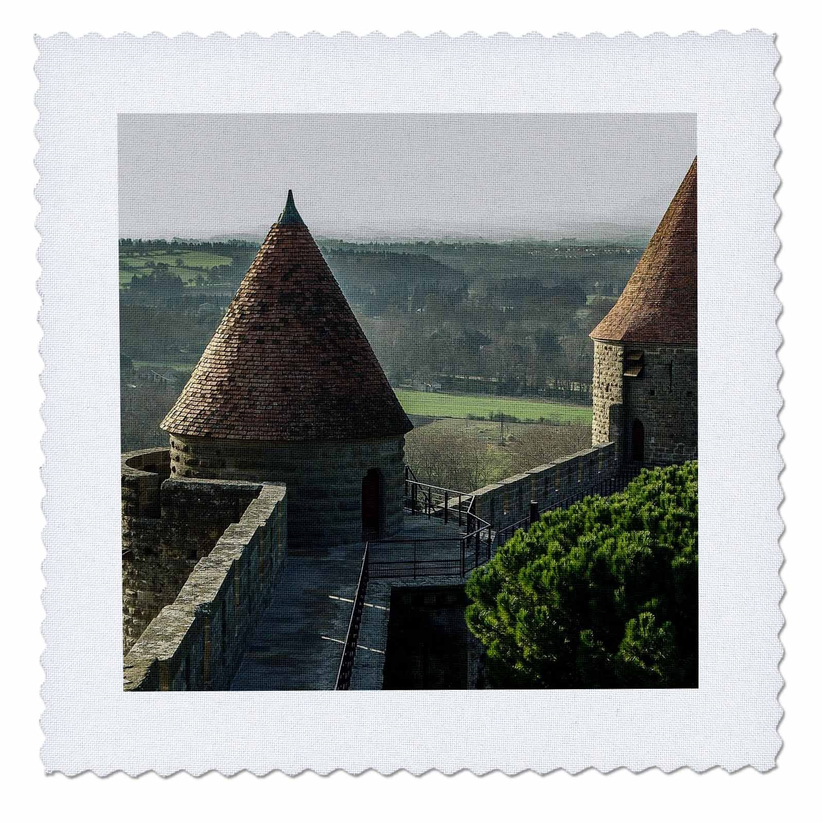 3dRose Cities Of The World - City Of Carcassonne, France - 18x18 inch quilt square (qs_268626_7)