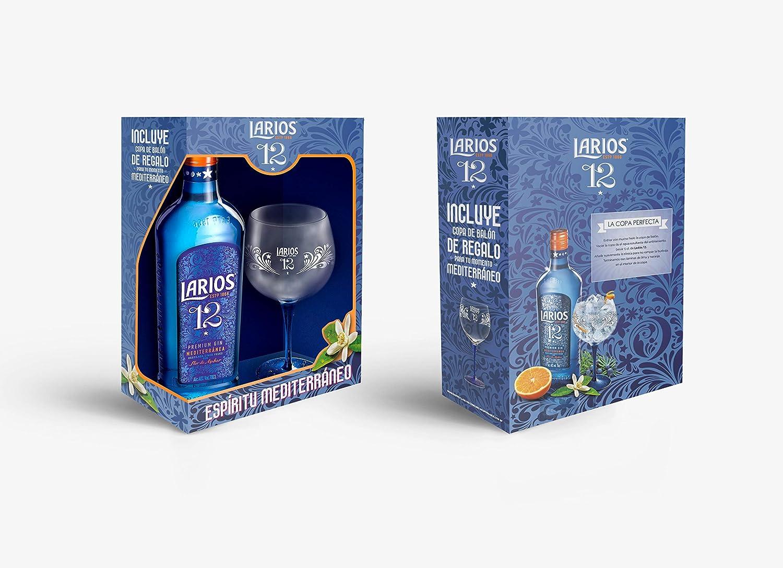 Larios 12 - Ginebra con copa de balón incluída, 700 ml: Amazon.es: Alimentación y bebidas