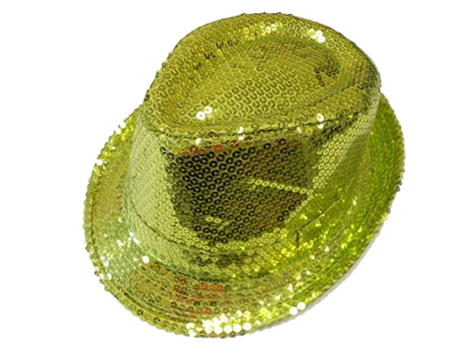 8e128c807c2cc Sequin Fedora   Lime   Just Too Pretty at Amazon Women s Clothing store