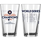 Houston Astros 2017 World Series Champions Roster Pint Glass