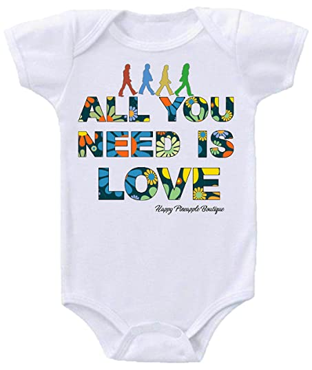 Amazon Com All You Need Is Love Beatles Inspired Parody Baby Onesie