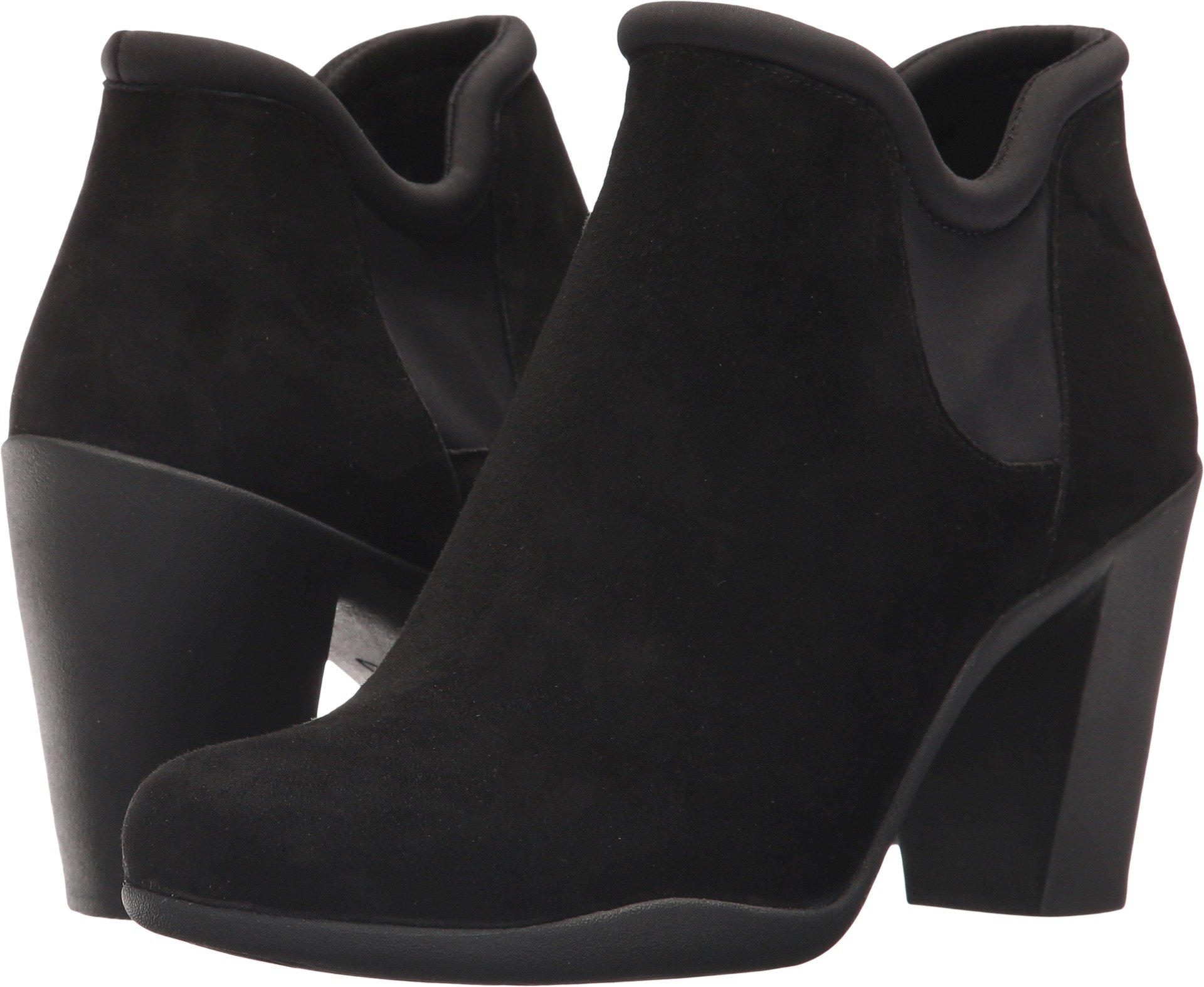 Clarks - Womens Adya Bella Low Boot, Size: 6.5 C/D US, Color: Black Suede