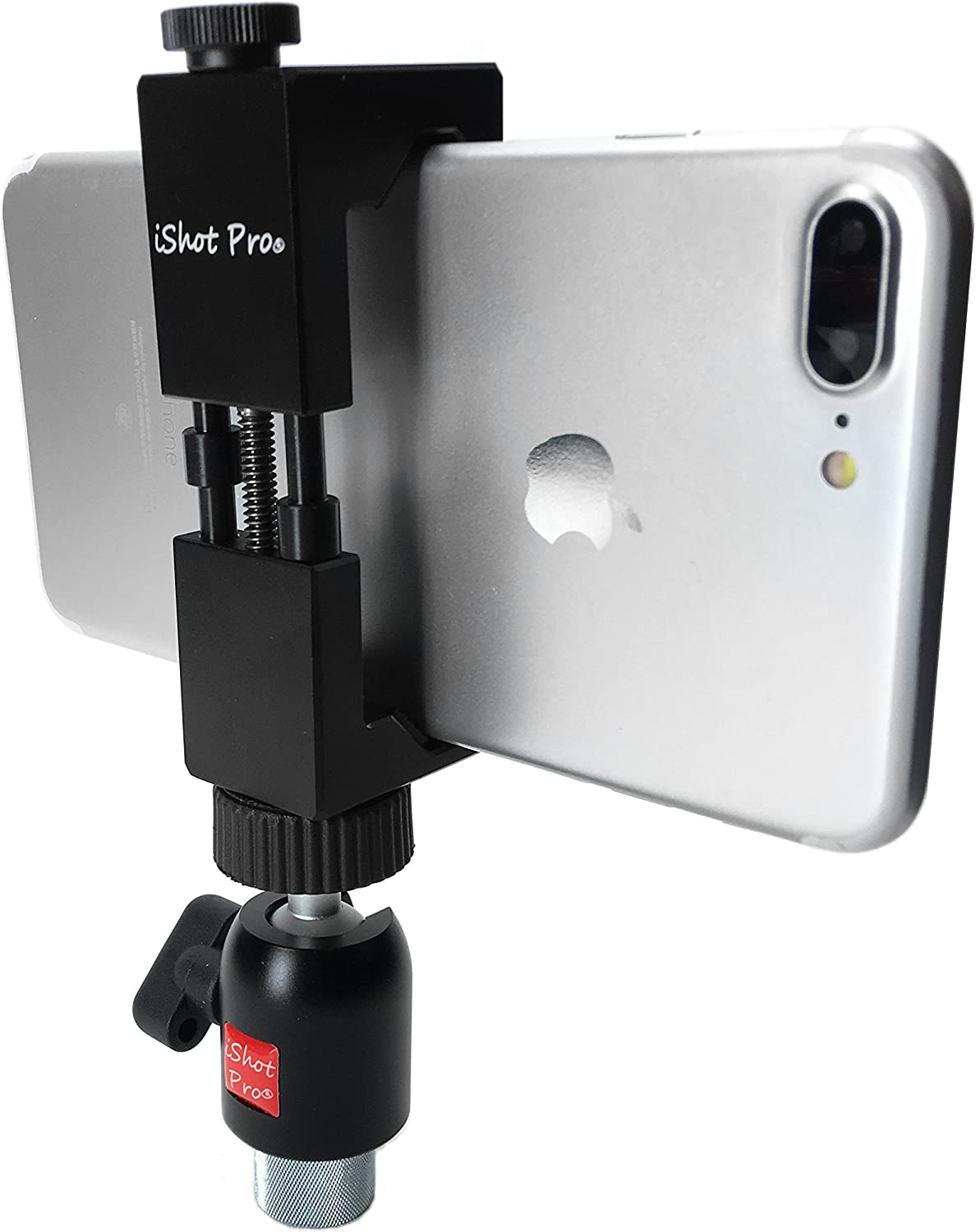 Amazon Com Ishot Pro Securegrip Metal Iphone Universal Smartphone Mic Music Tripod Stand Mount 360 Swivel Ball Head 1 4 To 5 8 Bushing Reducer Converter Compatible With Iphone Smartphone 2 5 To 3 6