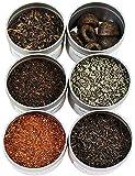 Loose Leaf Tea Sampler Gunpowder Green Tea, Lychee Congou Loose Tea, Rooibos Herbal Tea, and More; 6 Varieties