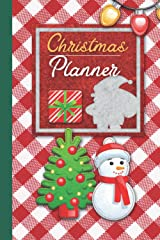 Christmas planner: Fantastic Christmas Planner With Cute Snowman and Christmas Tree Paperback