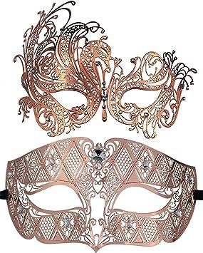 Coddsmz 2 Pack Set Máscaras Masquerade Ball Disfraces de Halloween ...