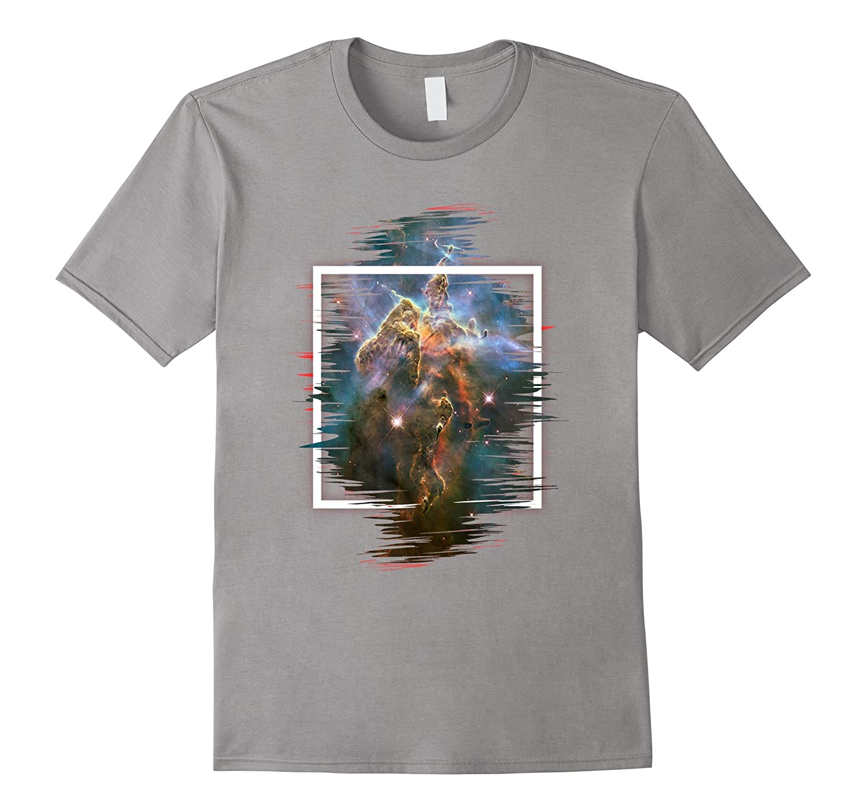 b0b2b6ef9 Nebula Galaxy T shirt Space Printed Short Sleeve Art Frame-TH - TEEHELEN