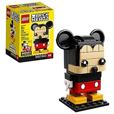 Lego 6225330 Brickheadz Mickey Mouse 41624 Building Kit (109 Piece), Multicolor: Toys & Games