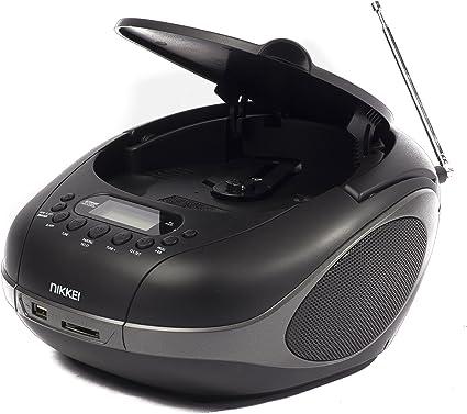 Nikkei Nprc55bk Tragbares Radio Cd Player Usb Bluetooth Aux In Schwarz Heimkino Tv Video