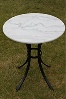 White Marble Top Bistro Table   Ideal For The Patio, Garden Or Indoors