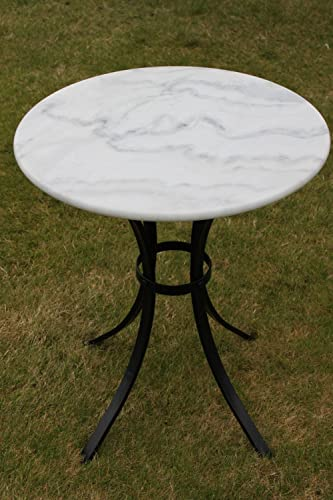 White marble top bistro table ideal for the patio garden or white marble top bistro table ideal for the patio garden or indoors watchthetrailerfo