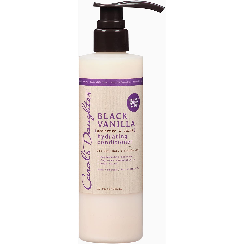 Carols Daughter Black Vanilla Moisture & Shine Hydrating Conditioner, 12 Fl Oz (Pack of 1)