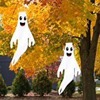 "Geefuun 43"" Halloween Ghost Windsocks Hanging Decorations - Flag Wind Socks for Home Yard Outdoor Decor Party Supplies…"