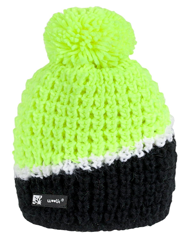 cddd51a0796 4sold Beanie hat Unisex Woolly Cookies Eskimo Chunky Knit Bobble with POM  POM SKI Sky SKIS (Floppy 85)  Amazon.co.uk  Clothing
