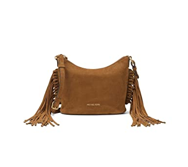 94adc66e0ecc Image Unavailable. Image not available for. Color  MICHAEL Michael Kors  Billy Medium Fringe Messenger (Dark Caramel)