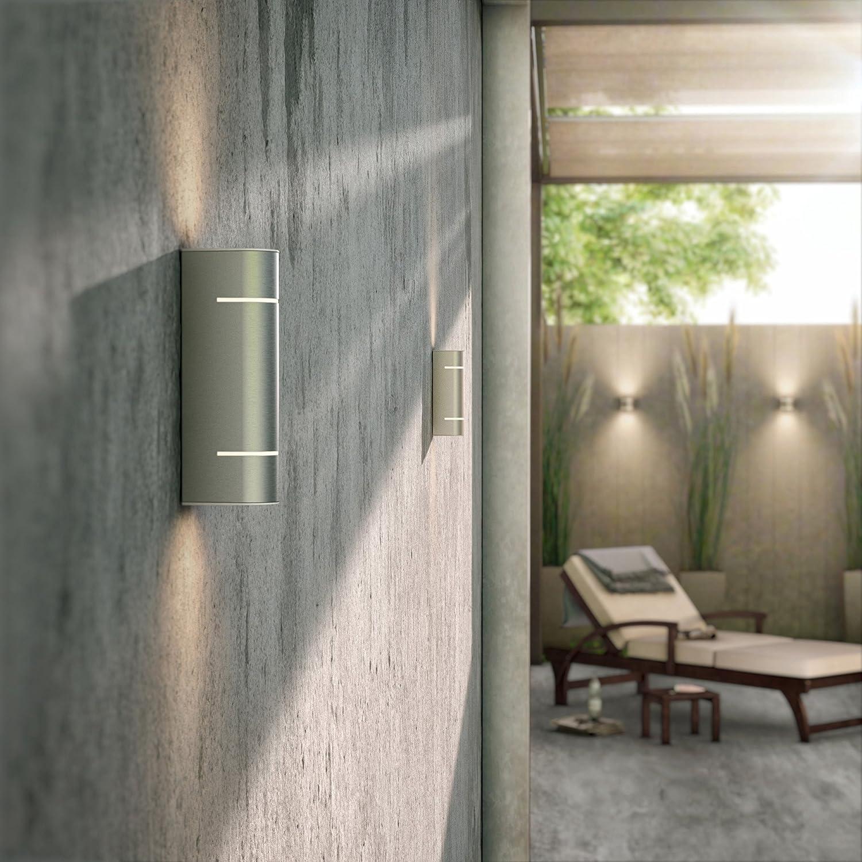 Philips 173124716 L/ámpara de pared Acero inoxidable 2 W