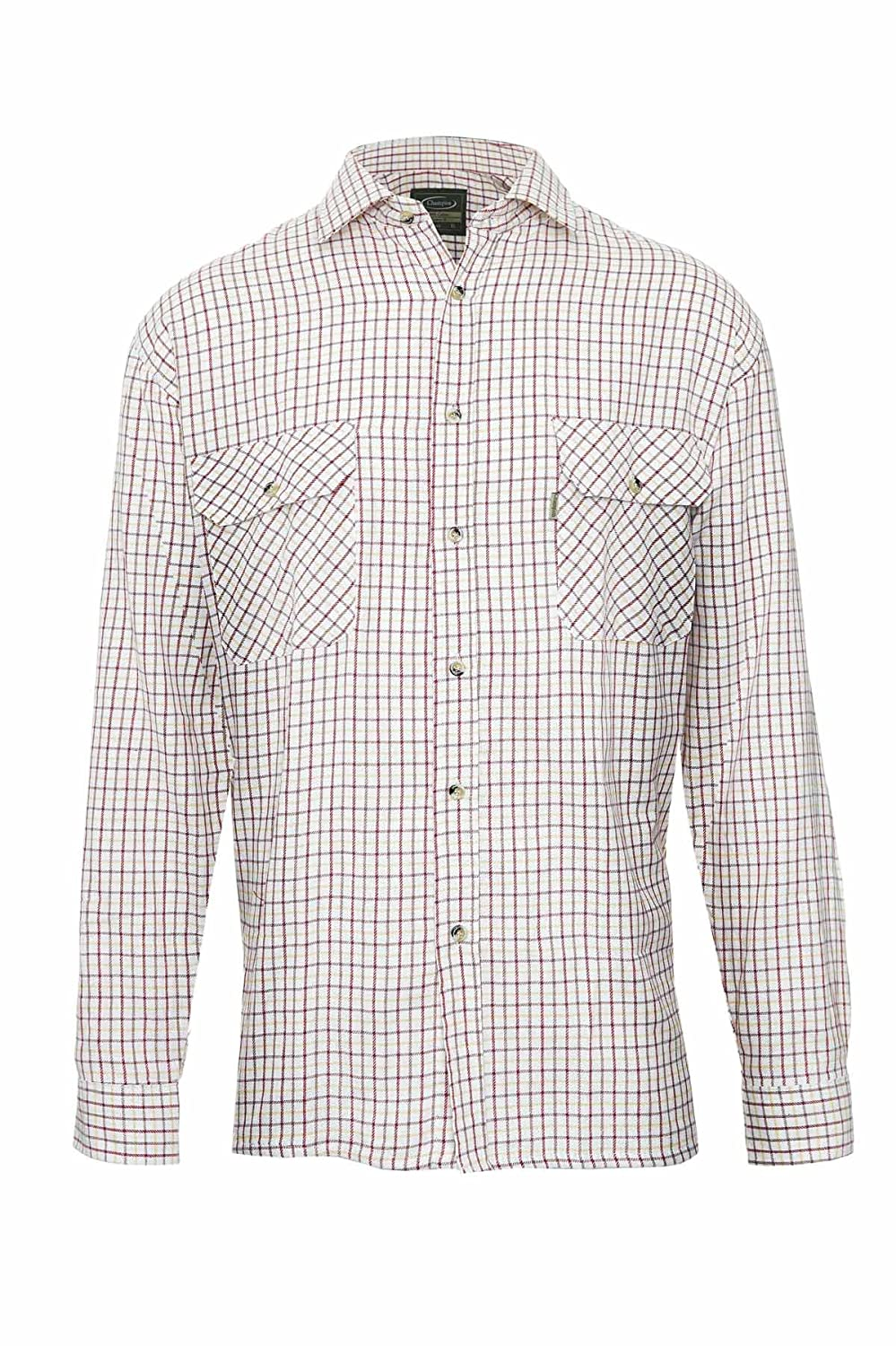 Champion Mens Country Check Polycotton Shirts Ideal for Fishing Shooting Hunting - TATTERSALL CH-TATTERSALL