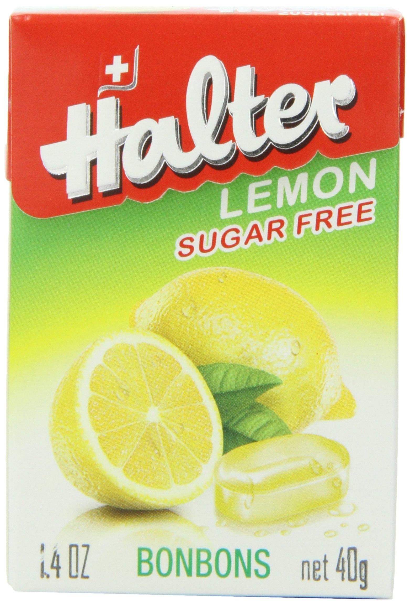 Halter Sugar-Free Bonbons, Lemon 1.40 oz (Pack of 8)