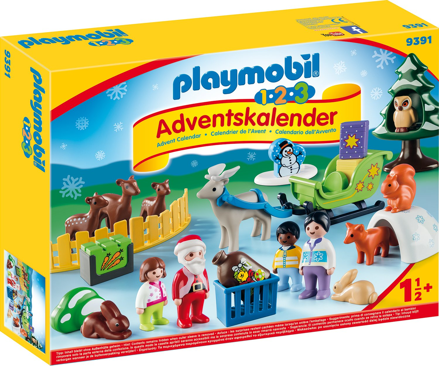 Playmobil 9391 1.2.3 Advent Calendar - Christmas in the Forest