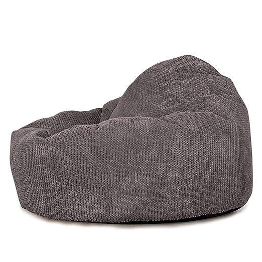 Lounge Pug®, Puff Pera Mini-Mamut, Pompón - Carbón Gris: Amazon ...
