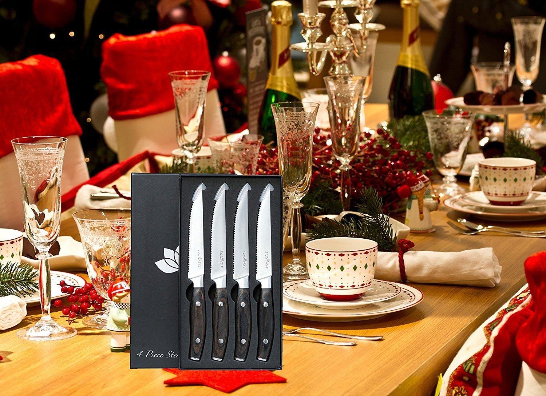 Amazon.com: Juegos De Cuchillos De Cocina. 4 Cuchillos Para Cortar Con Precisión Y Exactitud: Kitchen & Dining
