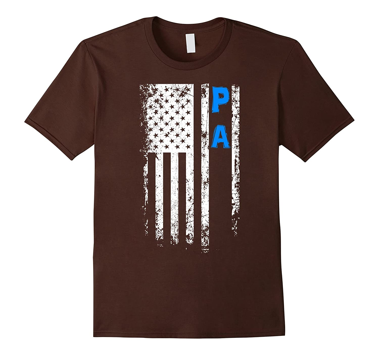 Fathers Day Gift American Blue Pa flag t-shirt-TH
