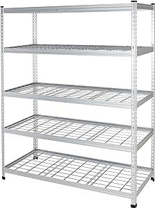 AmazonBasics AMBS02 Shelving, 60 x 24 x 78, Aluminum