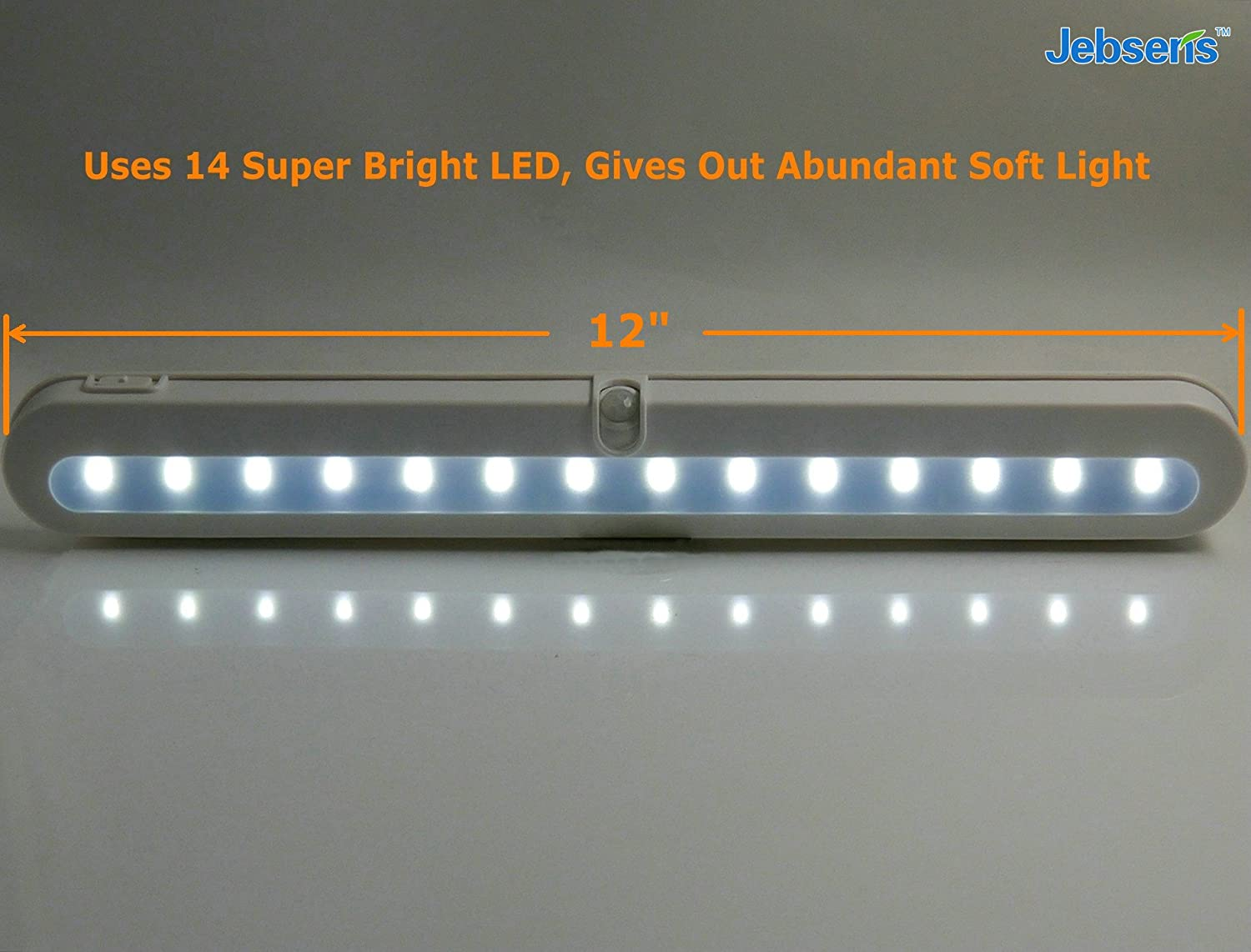 Super bright led under cabinet lighting - T01b Closet Light Jebsens 14 Led Under Cabinet Lighting And Battery Operated Wireless Motion Sensor Light With Auto On Off Function Light Cool White And