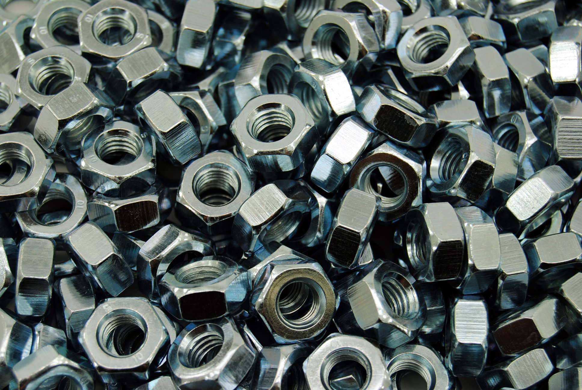(300) M10-1.5 Metric Hex Nuts Class 10 Zinc 10mm DIN 934