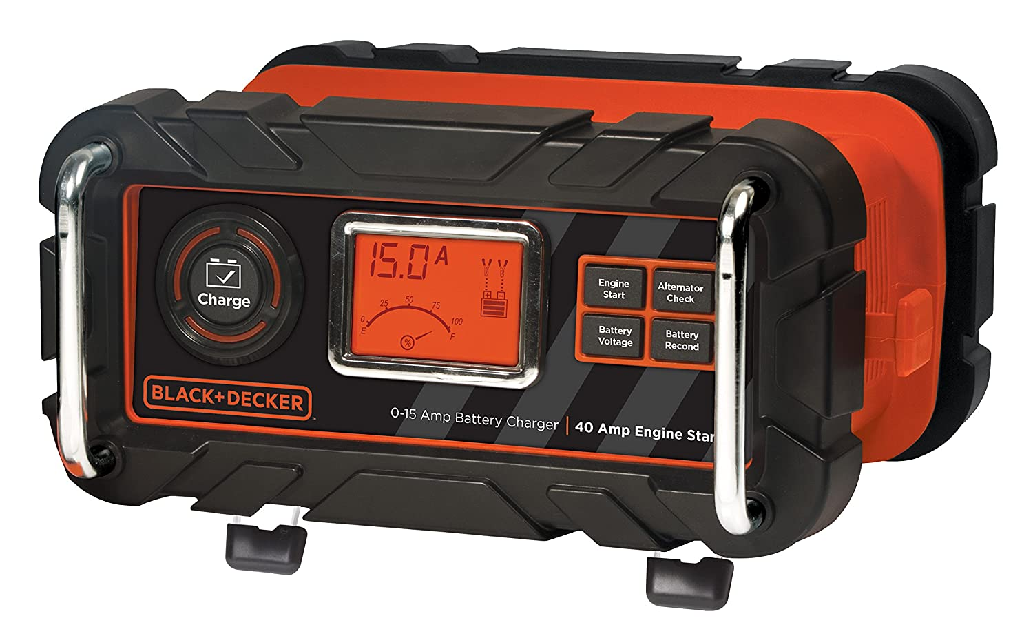Amazon com black decker bc15bd 15 amp bench battery charger with 40 amp engine start automotive