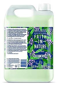 Faith In Nature Tea Tree bodywash 5 litre