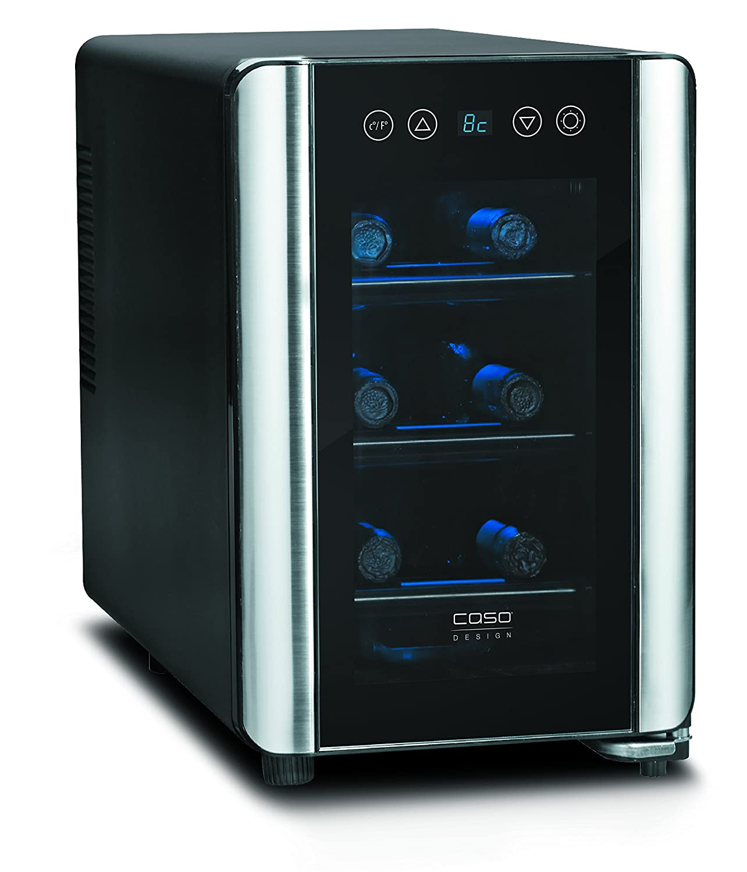 CASO WineCase 6 Design Weinkühlschrank für bis zu 6 Flaschen (bis ...