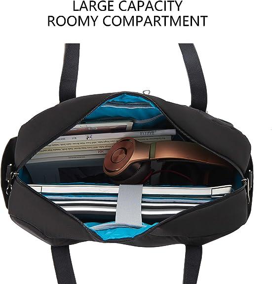 KROSER Laptop Tote Bag 15.6 Stylish Shoulder Bag Water-Repellent Large Travel Bag with RFID Pockets for Work//Business//School//College//Women-Black