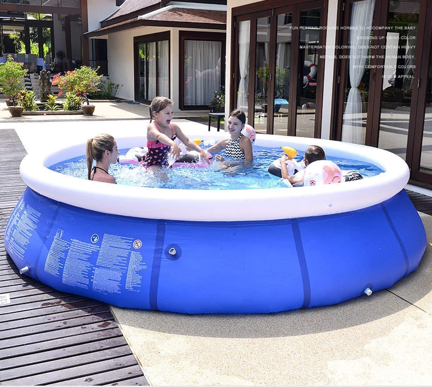 Creny Family Inflatable Swimming Pool 95 Diameter X 25 Height Quick Set Inflatable Pools Above Ground Pool For Kids And Adult Outdoor Garden Backyard Summer Water Party Garden Outdoor