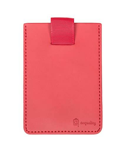 buy online 8d643 1bc81 Acquality RFID Blocking Cell Phone Wallet with Pull Tab (Red)