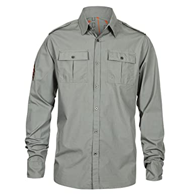 Amazon.com: World of Tanks Men's Cargo Long-Sleeve Button-Down ...