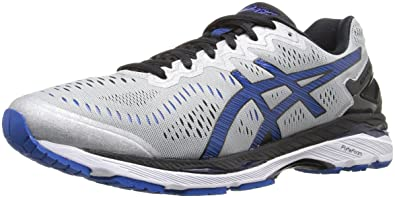 ASICS Men's Gel-Kayano 23 Running Shoe, Silver/Imperial/Black, 6