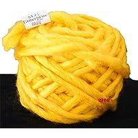 M.G Enterprise Knitting Yarn Thick Chunky Roving Jumbo Wool, Yellow 100 gm Best Used with Knitting Needles, Crochet Needles Roving Jumbo Wool Yarn for Knitting. by M.G Enterprise