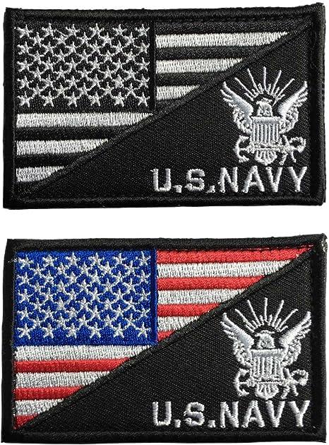 SpaceAuto bandera de Estados Unidos y parche con insignia táctica del ejército marino de Estados Unidos: Amazon.es: Juguetes y juegos