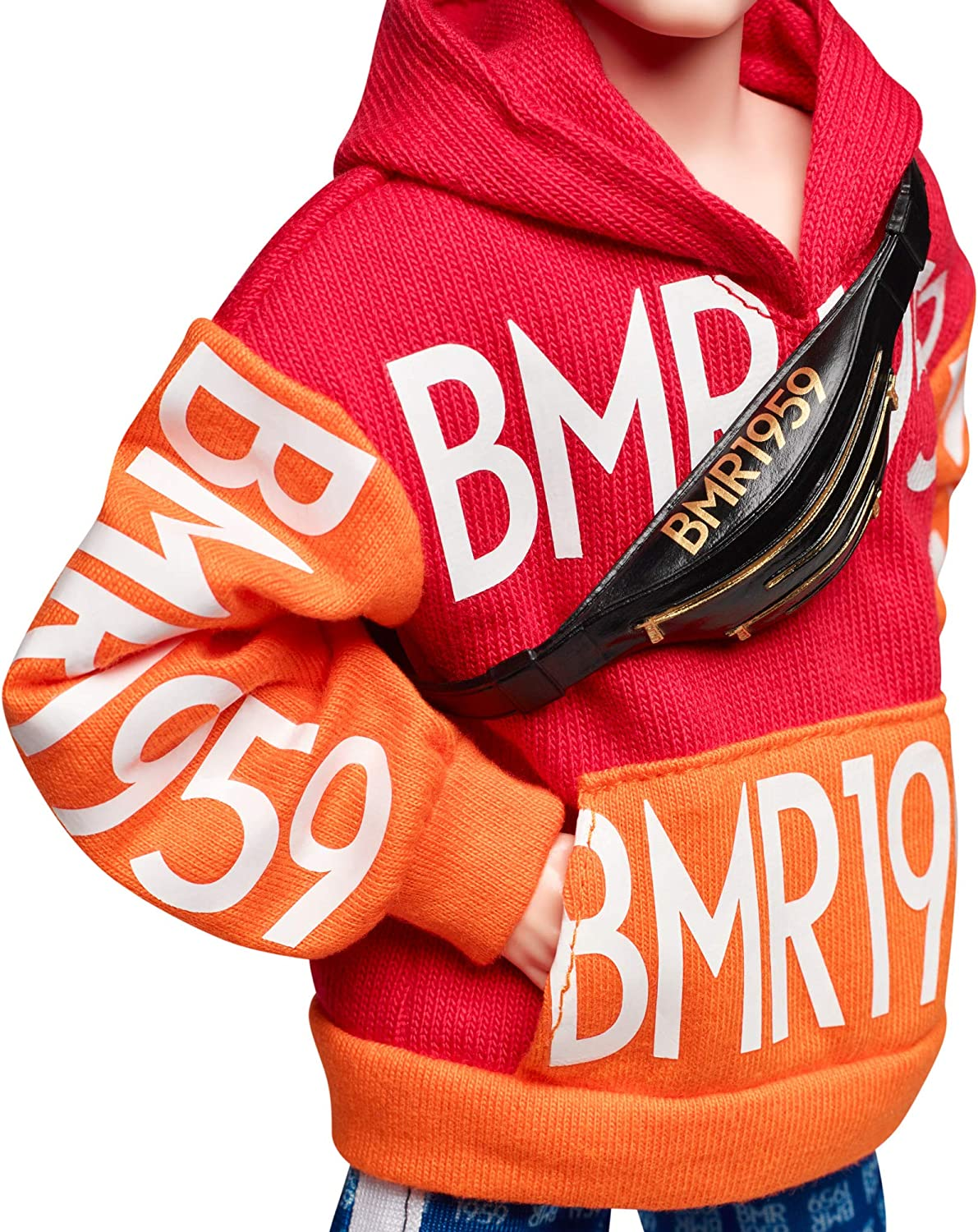 /> BMR 1959 Barbie Ken Orange Red Hoodie Blue Shorts Rooted Hair MTM Made to Move