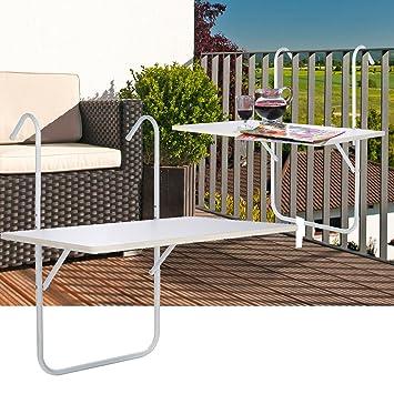 Balkonklapptisch weiss  Amazon.de: Balkon Klapptisch Balkontisch von JEMIDI Klappbar ...