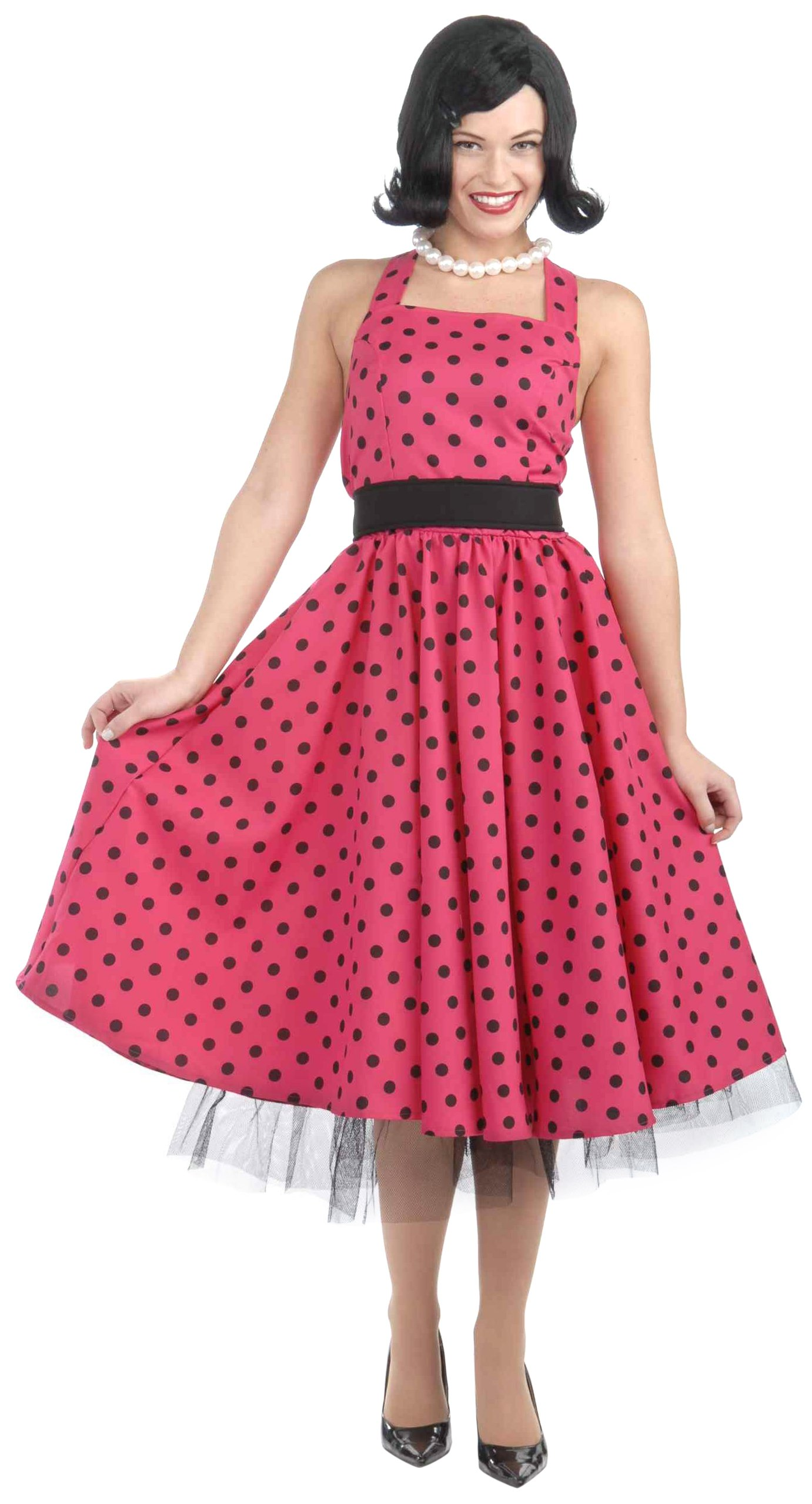 Forum Novelties Women's Pretty In Polka Dots Costume, Pink, X-Small/Small