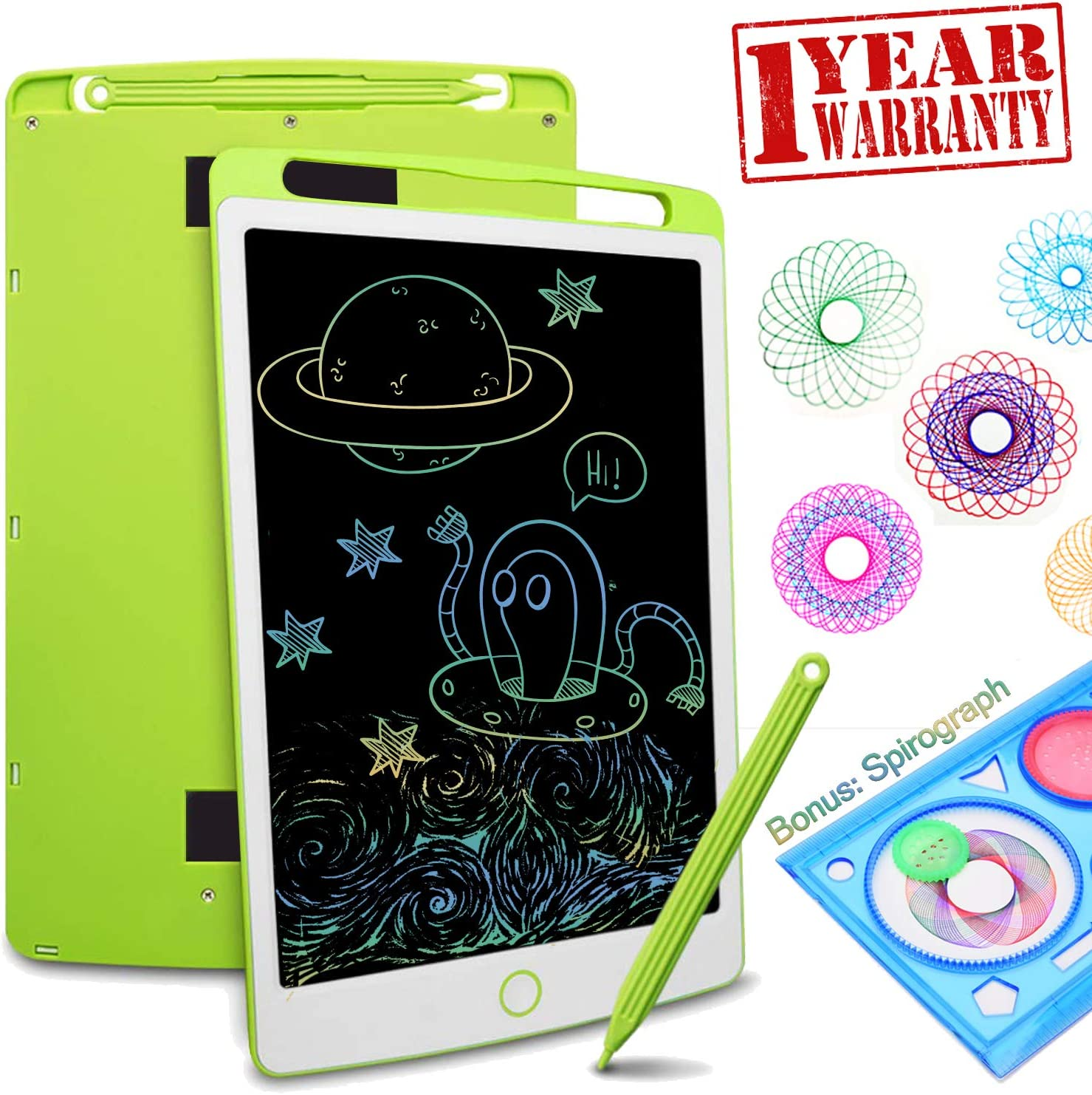 10 inch Portable Mini Tablet Electronic Painting Board Intelligent Graffiti Board Childrens Painting Gift Educational Toys Early Education Painting Message Board Childrens LCD Writing Board