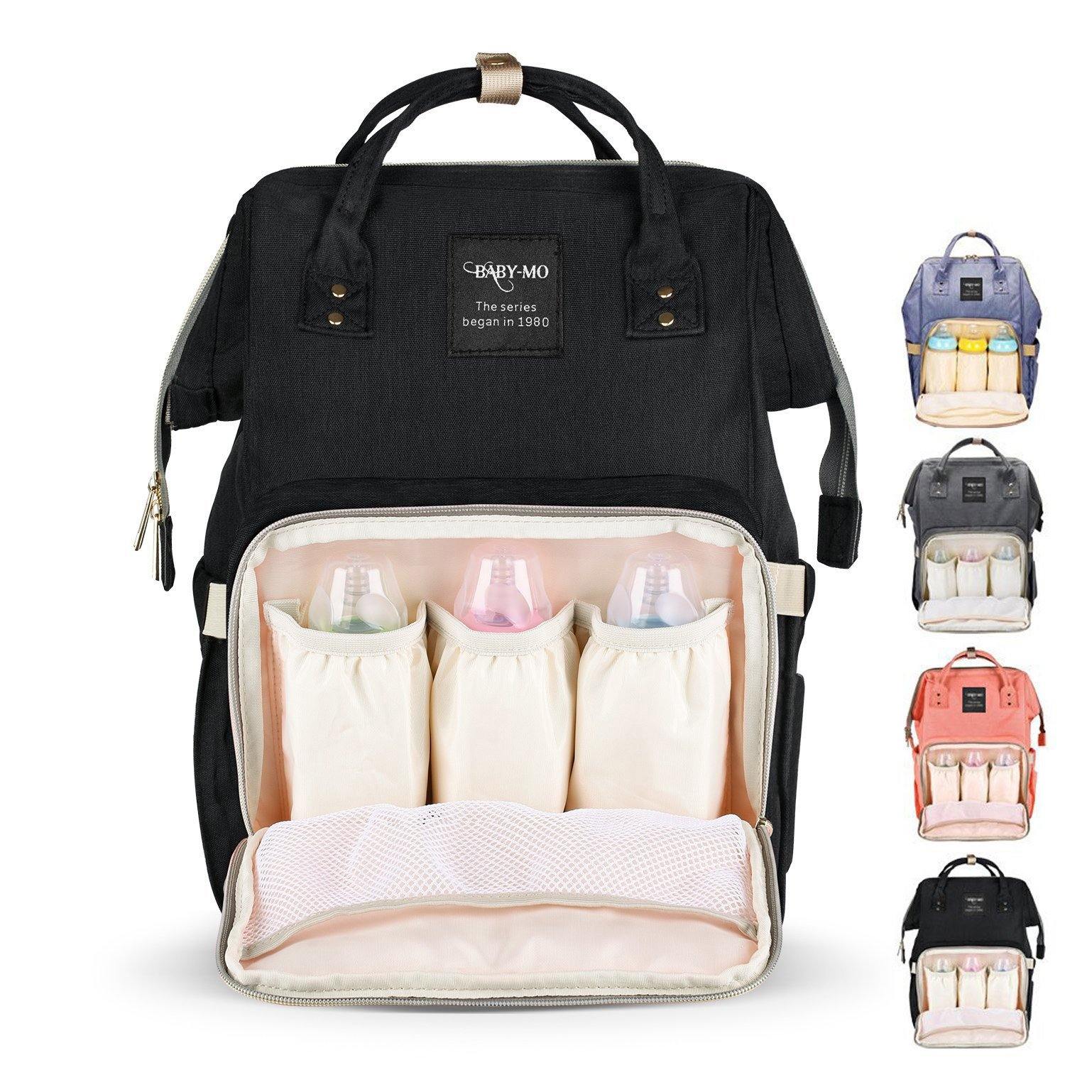Diaper Bag Multi-Function Waterproof Travel Backpack Nappy Bag for Baby Care with Insulated Pockets, Large Capacity, Durable (Black) Beautiful Tech
