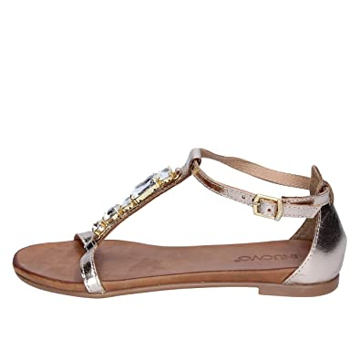 48733050e61 Inuovo Sandals Womens Leather Gold 5 US