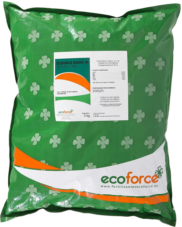 CULTIVERS Tierra de Diatomeas 5 kg Micronizada. 100% Natural y Ecológico. Grado alimenticio E55IC