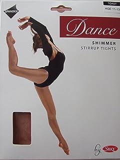 Silky Big GirlsStirrup Shimmer Tights