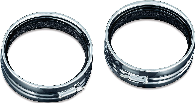 Chrome 7 Headlamp//Headlight Trim Ring for 1983-2019 Harley-Davidson Motorcycles Kuryakyn 7275 Motorcycle Lighting Accessory