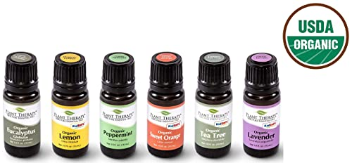 Plant Therapy Top 6 USDA Certified Organic Essential Oils Set